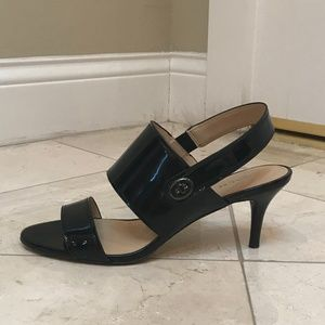 Coach Marla Black Slingback Sandals 9.5M $145